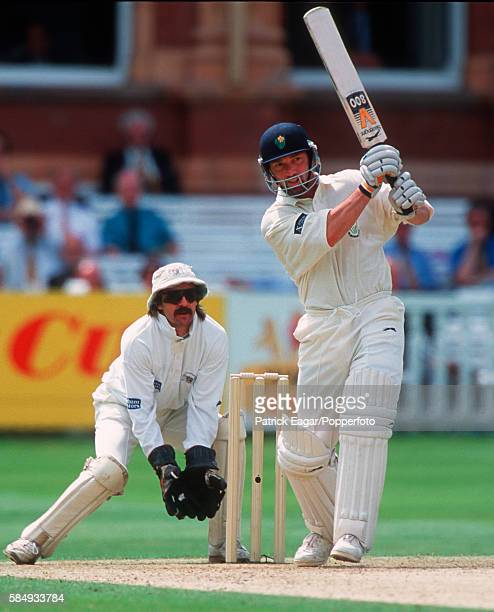 Matthew Maynard batting during his innings of 104 for Glamorgan in the Benson and Hedges Cup Final between Glamorgan and Gloucestershire at Lord's...
