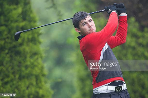 Matthew McCarthy in action during the Powerade PGA Assistants Championship Irish Regional Qualifiers at County Meath on May 20 2014 in Trim Ireland