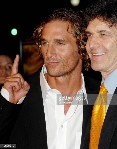 Matthew McConaughey and Alan Horn during We Are Marshall Los Angeles Premiere Arrivals at Grauman's Chinese Theater in Hollywood California United...