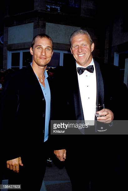 Matthew McConaughey and Bill Parcells during The Doug Flutie Children With Autism Foundation Gala 1999 File Photos in Red Bank New Jersey United...