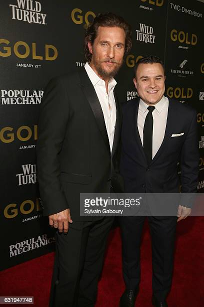 Matthew McConaughey and Cameron Connors attend TWCDimension with Popular Mechanics The Palm Court Wild Turkey Bourbon Host the Premiere of Gold at...
