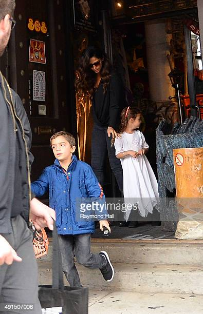 Matthew Mcconaughey and Camila Alves are seen out in Tribeca with Levi Alves McConaughey and Vida Alves McConaughey on October 5, 2015 in New York...