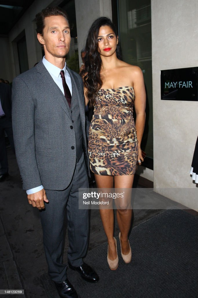 Matthew McConaughey and Camila Alves arrive for the European Premiere of Magic Mike at The Mayfair Hotel on July 10, 2012 in London, England.