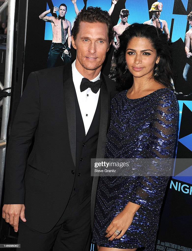 Matthew McConaughey and Camila Alves arrives at the 2012 Los Angeles Film Festival - Closing Night Gala Premiere 'Magic Mike' at Regal Cinemas L.A. Live on June 24, 2012 in Los Angeles, California.