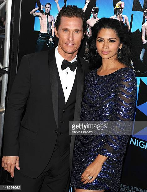 """Matthew McConaughey and Camila Alves arrives at the 2012 Los Angeles Film Festival - Closing Night Gala Premiere """"Magic Mike"""" at Regal Cinemas L.A...."""