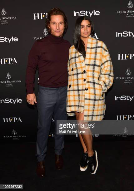 Matthew McConaughey and Camila Alves attend 2018 HFPA and InStyle's TIFF Celebration at the Four Seasons Hotel on September 8 2018 in Toronto Canada