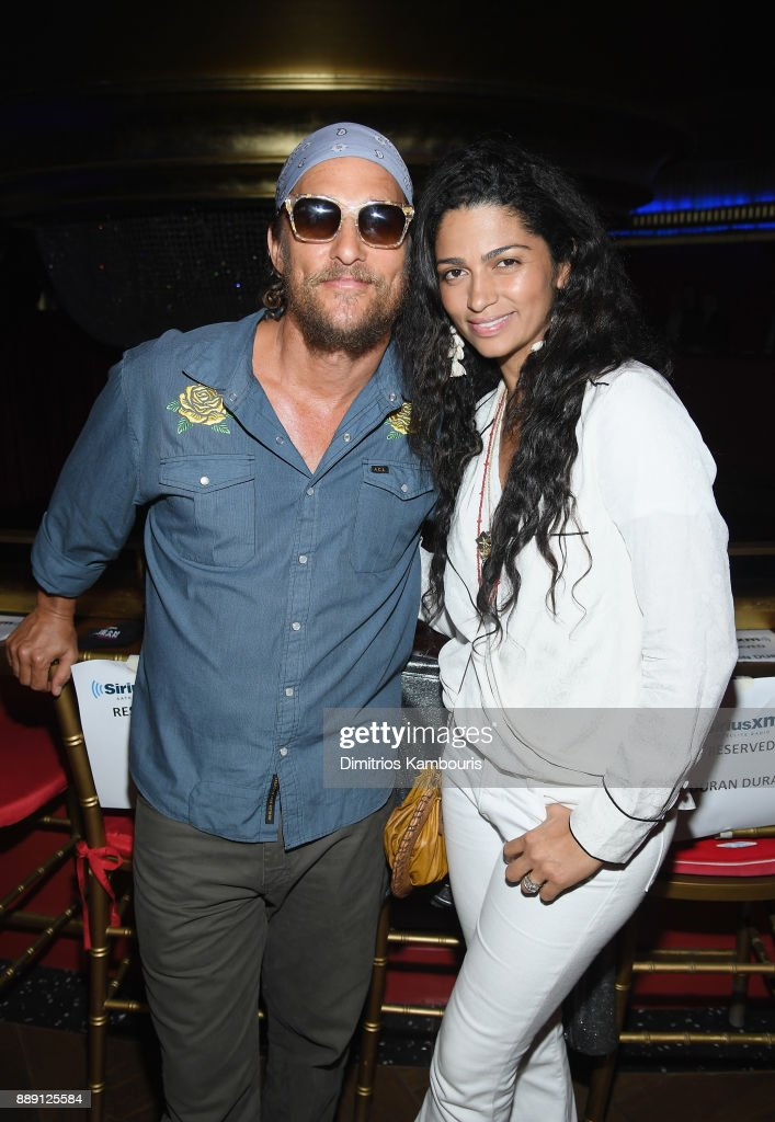 Matthew Mcconaughey and Camila Alves attend Duran Duran Performing Live For SiriusXM At The Faena Theater In Miami Beach During Art Basel on December 9, 2017 in Miami Beach, Florida.