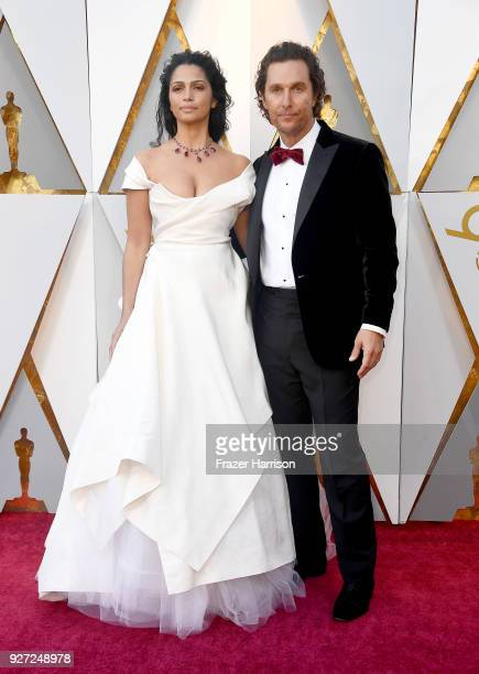Matthew McConaughey and Camila Alves attend the 90th Annual Academy Awards at Hollywood Highland Center on March 4 2018 in Hollywood California