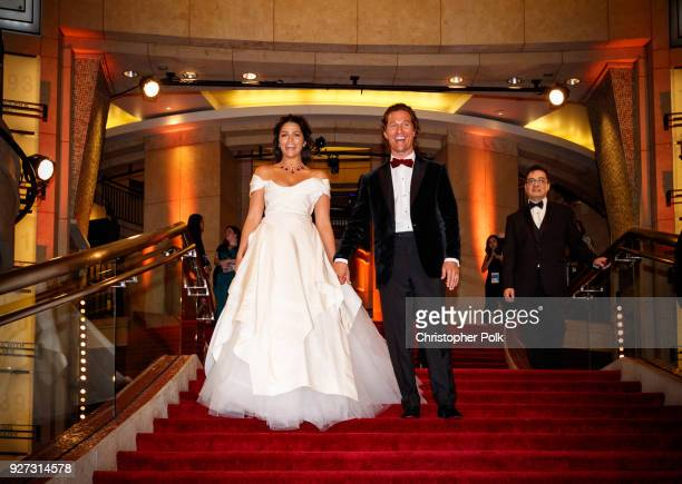 Matthew McConaughey and Camila Alves attend the 90th Annual Academy Awards at Hollywood & Highland Center on March 4, 2018 in Hollywood, California.