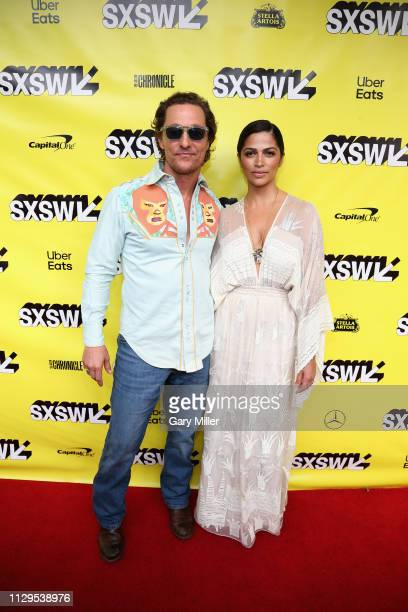 """Matthew McConaughey and Camila Alves attend the premiere of """"The Beach Bum"""" at the Paramount Theatre during the SXSW Conference And Festival on March..."""