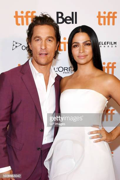 Matthew McConaughey and Camila Alves attend the White Boy Rick premiere during 2018 Toronto International Film Festival at Ryerson Theatre on...