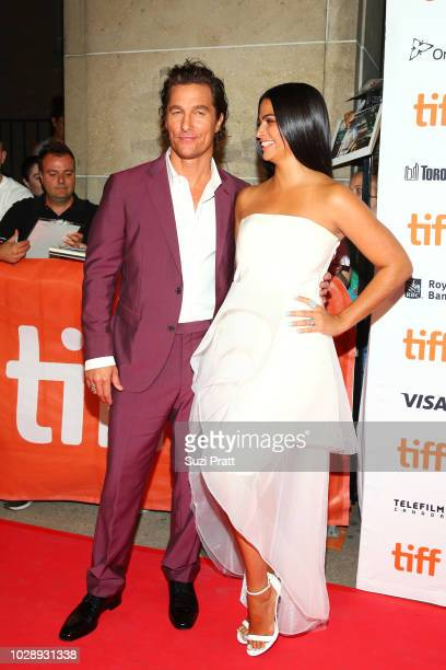 Matthew McConaughey and Camila Alves attend the 'White Boy Rick' premiere during 2018 Toronto International Film Festival at Ryerson Theatre on...