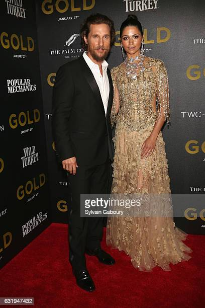 Matthew McConaughey and Camila Alves attend TWCDimension with Popular Mechanics The Palm Court Wild Turkey Bourbon Host the Premiere of 'Gold' at AMC...