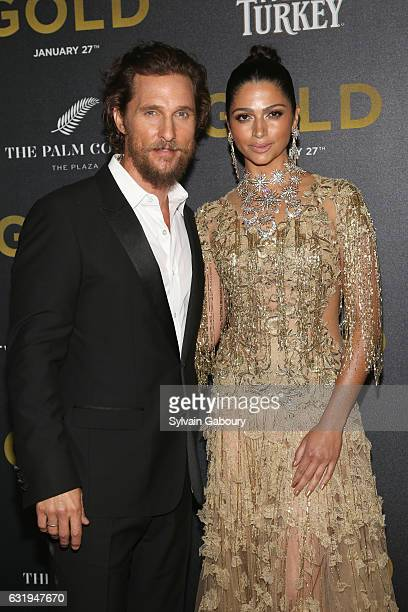 Matthew McConaughey and Camila Alves attend TWCDimension with Popular Mechanics The Palm Court Wild Turkey Bourbon Host the Premiere of Gold at AMC...