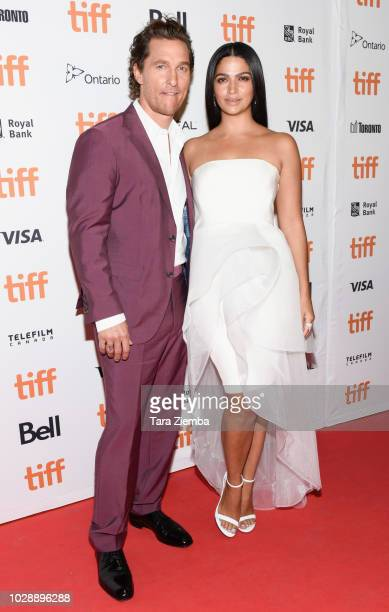 Matthew McConaughey and Camila Alves McConaughey arrive to the 2018 Toronto International Film Festival premiere of 'White Boy Rick' at Ryerson...