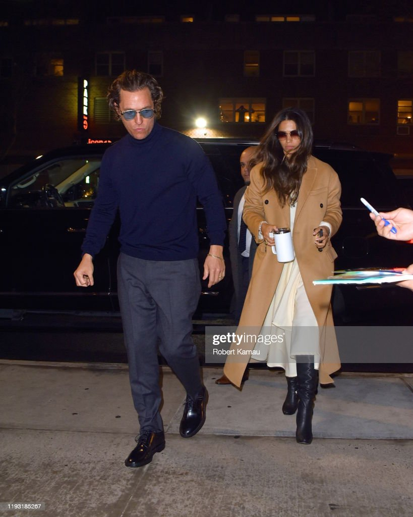 Matthew McConaughey and Camila Alves seen out and about in Manhattan...  Foto di attualità - Getty Images