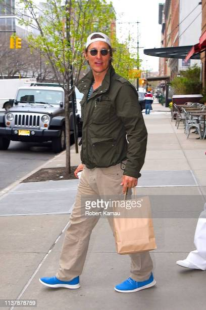 Matthew Mcconaughey and family seen out and about in Manhattan on April 18 2019 in New York City