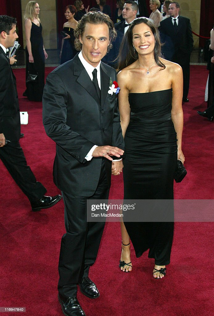 Matthew McConaughey and Guest during The 75th Annual Academy Awards - Arrivals at The Kodak Theater in Hollywood, California, United States.