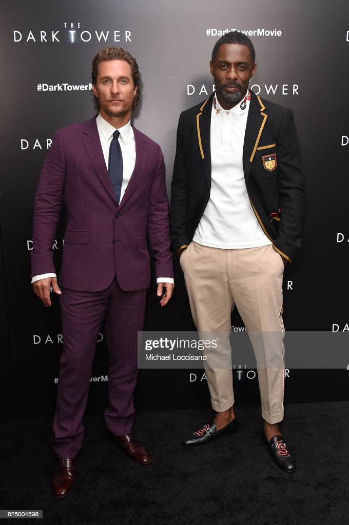 Matthew McConaughey and Idris Elba attend 'The Dark Tower' New York Premiere on July 31, 2017 in New York City.