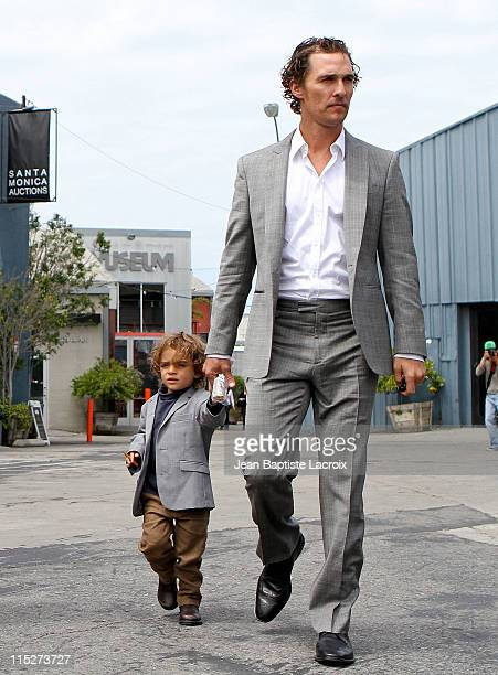 Matthew McConaughey and Levi Alves McConaughey are seen in Santa Monica on June 5, 2011 in Los Angeles, California.