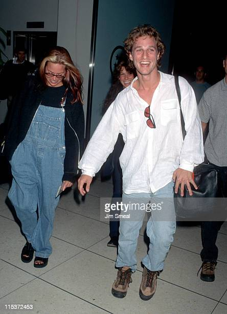 Matthew McConaughey and Sandra Bullock during Matthew McConaughey and Sandra Bullock Depart Los Angeles for New York City January 31 1997 at Los...