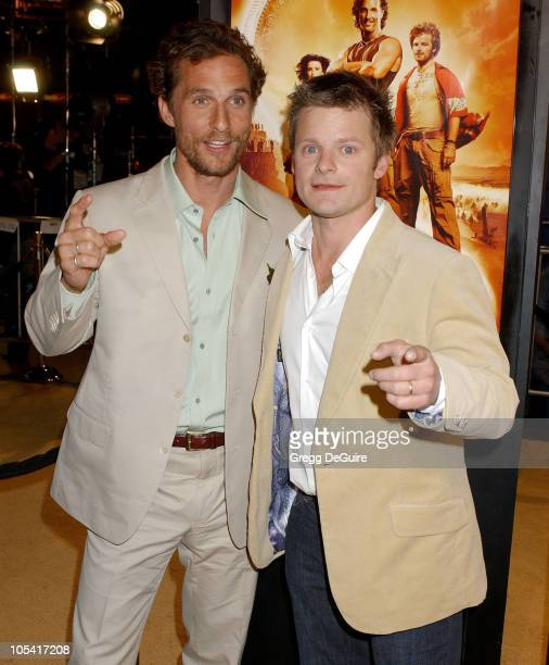 """Matthew McConaughey and Steve Zahn during """"Sahara"""" Los Angeles Premiere - Arrivals at Grauman's Chinese Theatre in Hollywood, California, United..."""