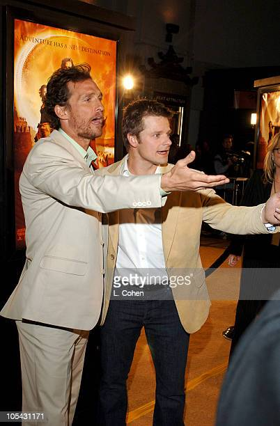 """Matthew McConaughey and Steve Zahn during """"Sahara"""" Los Angeles Premiere - Red Carpet at Grauman's Chinese Theater in Los Angeles, California, United..."""