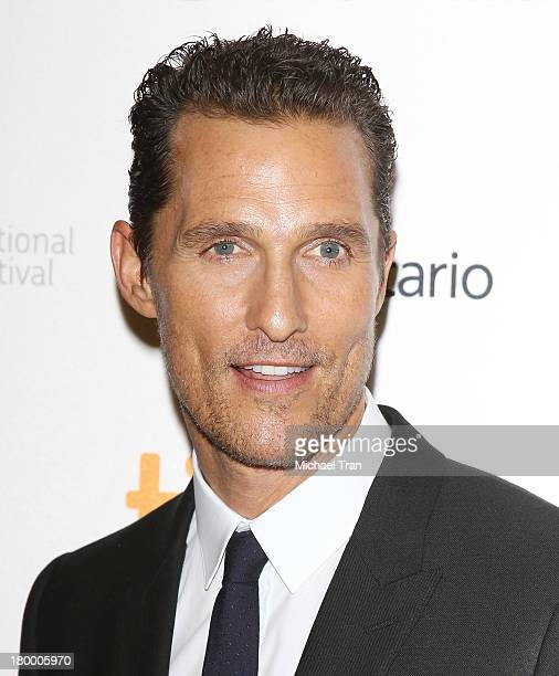 Matthew McConaughey arrives at the Dallas Buyers Club premiere during the 2013 Toronto International Film Festival held at Princess of Wales Theatre...