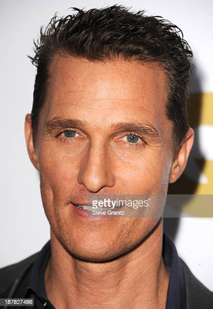 Matthew McConaughey arrives at the GQ Men Of The Year Party at The Wilshire Ebell Theatre on November 12 2013 in Los Angeles California