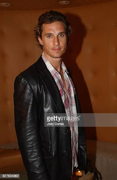 Matthew McConaughey arrives at the Warner Music Group and Entertainment Weekly postGrammy party