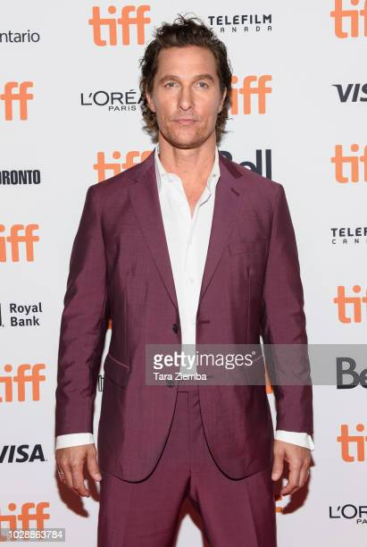 Matthew McConaughey arrives to the 2018 Toronto International Film Festival premiere of 'White Boy Rick' at Ryerson Theatre on September 7 2018 in...