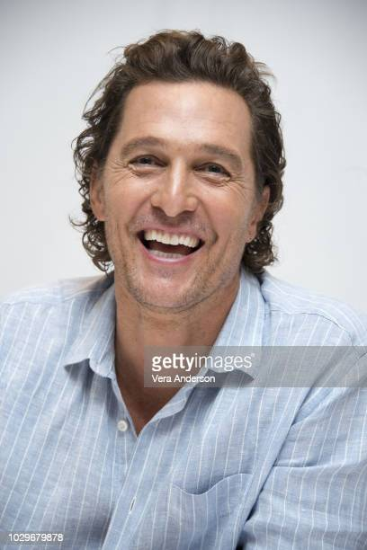 Matthew McConaughey at the White Boy Rick Press Conference at the Fairmont Royal York Hotel on September 8 2018 in Toronto Canada