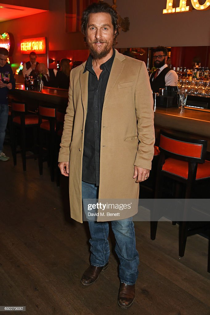 Matthew McConaughey attends a special screening of 'Gold' at The Ham Yard Hotel on January 20, 2017 in London, England.