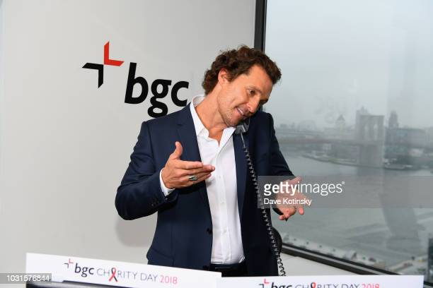 Matthew McConaughey attends Annual Charity Day hosted by Cantor Fitzgerald BGC and GFI at BGC Partners INC on September 11 2018 in New York City