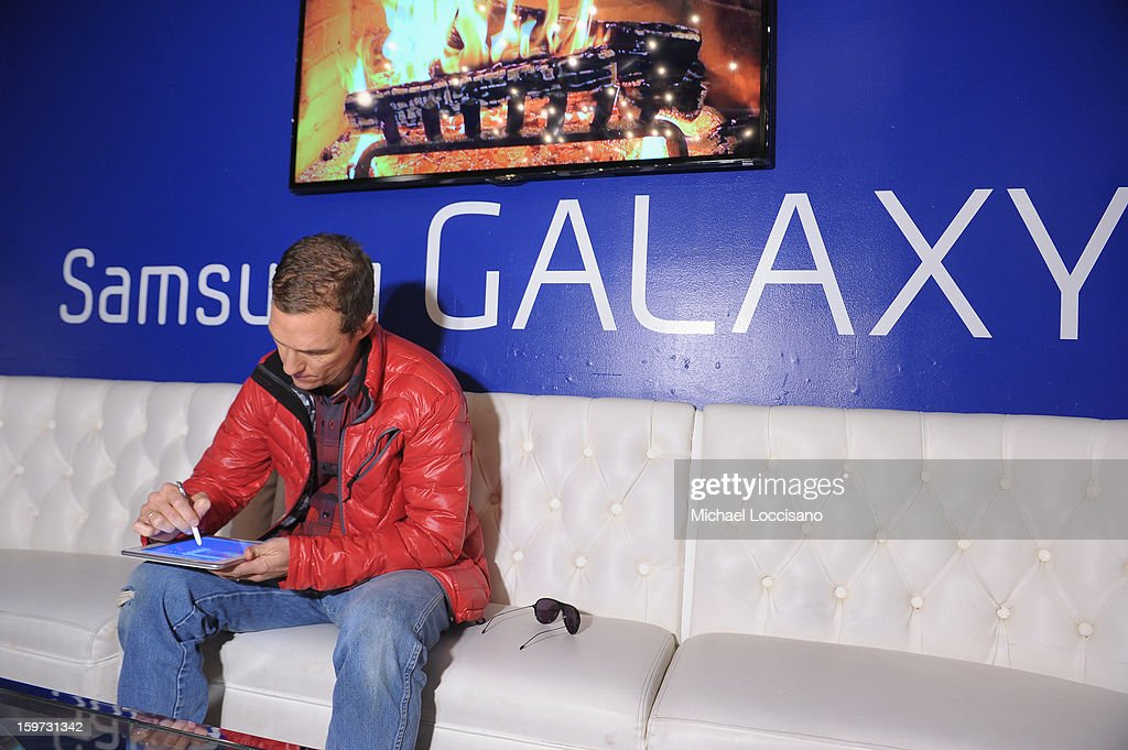 Matthew McConaughey attends Day 2 of Samsung Galaxy Lounge at Village At The Lift 2013 on January 19, 2013 in Park City, Utah.