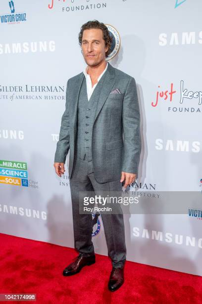 Matthew McConaughey attends the 2018 Samsung Charity Gala at The Manhattan Center on September 27 2018 in New York City