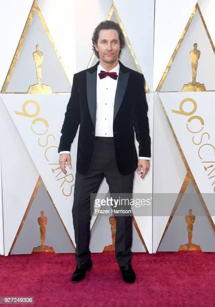 Matthew McConaughey attends the 90th Annual Academy Awards at Hollywood Highland Center on March 4 2018 in Hollywood California
