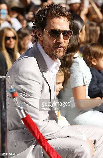 Matthew McConaughey attends the ceremony honoring him with a Star on The Hollywood Walk of Fame on November 17 2014 in Hollywood California