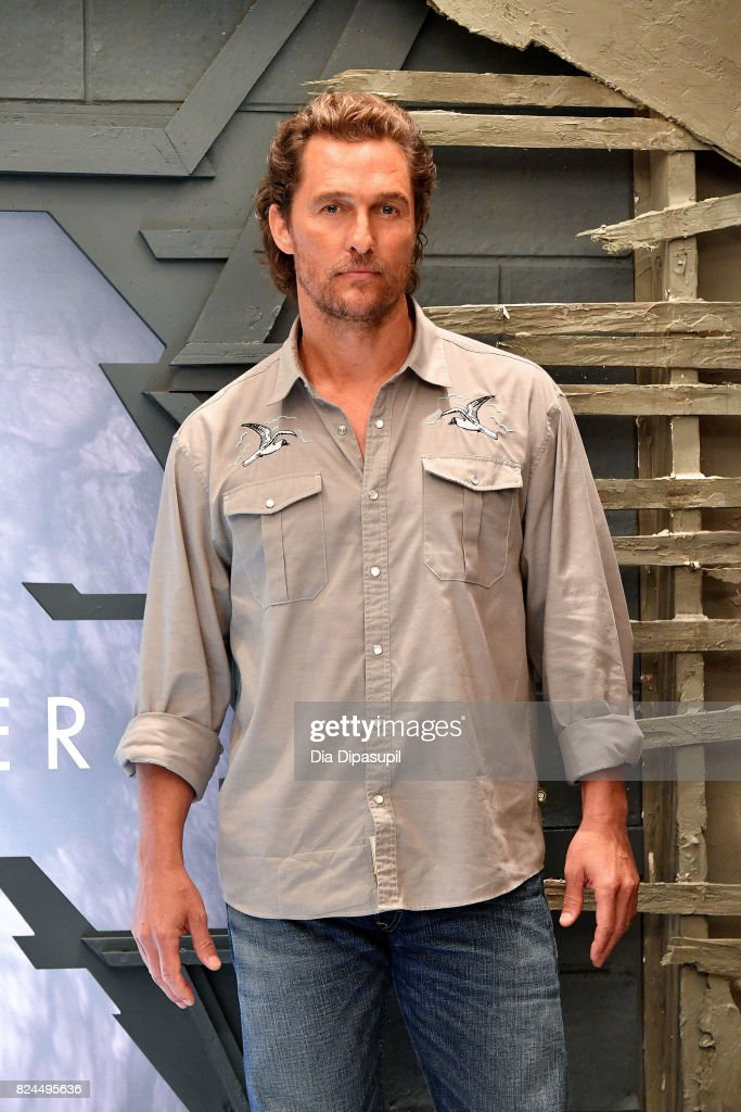 Matthew McConaughey attends 'The Dark Tower' photocall at the Whitby Hotel on July 30, 2017 in New York City.
