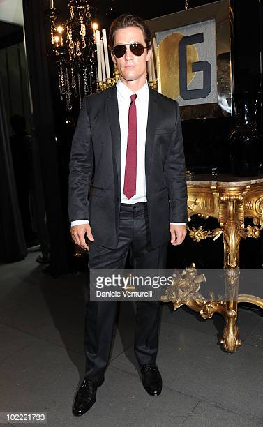 Matthew McConaughey attends the Dolce Gabbana VIP Room prior to the Dolce Gabbana Milan Menswear Spring/Summer 2011 show on June 19 2010 in Milan...