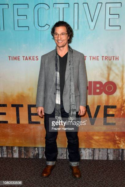Matthew McConaughey attends the premiere of HBO's 'True Detective' Season 3 at Directors Guild Of America on January 10 2019 in Los Angeles California