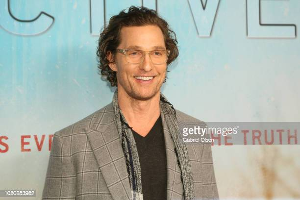 Matthew McConaughey attends the premiere of HBO's True Detective Season 3 at Directors Guild Of America on January 10 2019 in Los Angeles California