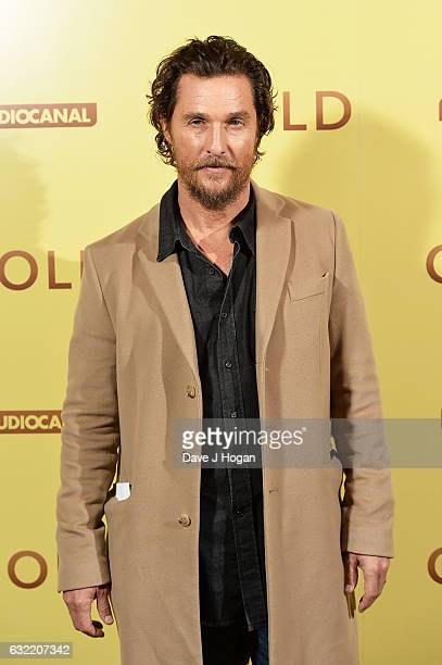 Matthew McConaughey attends the screening of the film 'Gold' at Ham Yard Hotel on January 20 2017 in London England