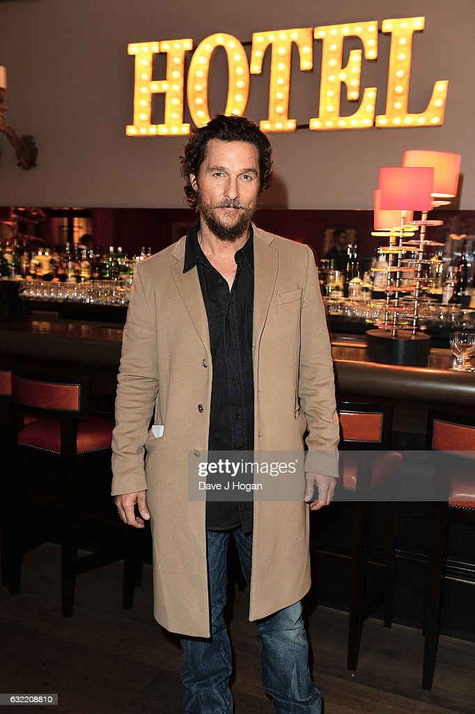 Matthew McConaughey attends the screening of the film 'Gold' at Ham Yard Hotel on January 20, 2017 in London, England.