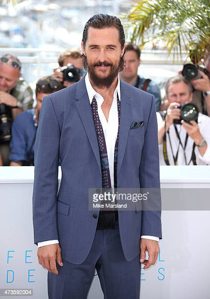 "Matthew McConaughey attends ""The Sea Of Trees"" Photocall during the 68th annual Cannes Film Festival on May 16, 2015 in Cannes, France."