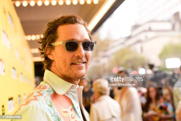 Matthew McConaughey attends the The Beach Bum Premiere 2019 SXSW Conference and Festivals at Paramount Theatre on March 09 2019 in Austin Texas