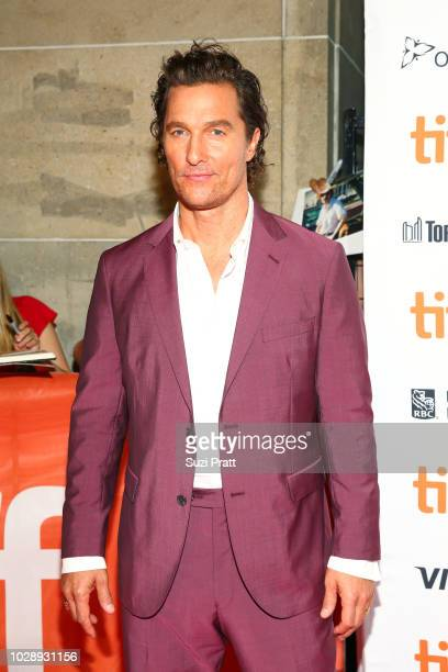 Matthew McConaughey attends the White Boy Rick premiere during 2018 Toronto International Film Festival at Ryerson Theatre on September 7 2018 in...