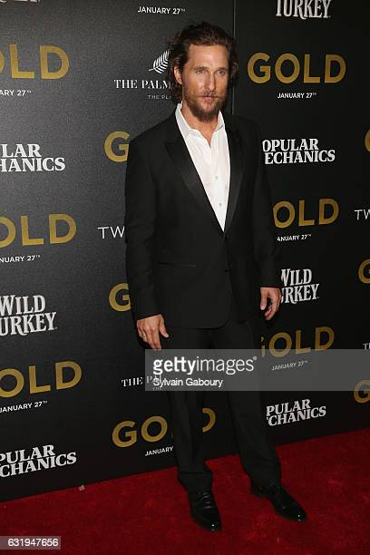 Matthew McConaughey attends TWCDimension with Popular Mechanics The Palm Court Wild Turkey Bourbon Host the Premiere of Gold at AMC Loews Lincoln...