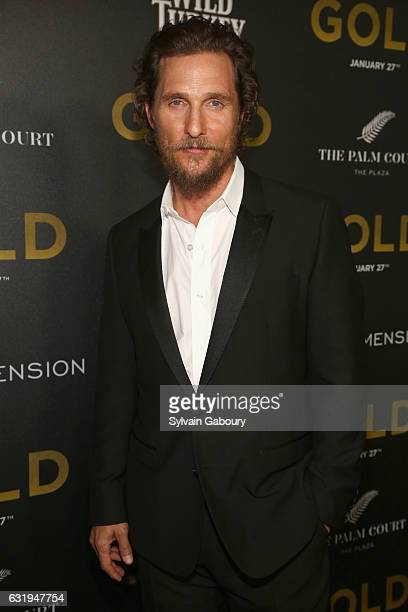 Matthew McConaughey attends TWCDimension with Popular Mechanics The Palm Court Wild Turkey Bourbon Host the Premiere of 'Gold' at AMC Loews Lincoln...