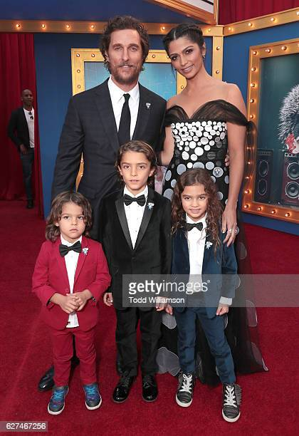 Matthew McConaughey Camila Alves and family attend the premiere Of Universal Pictures' Sing on December 3 2016 in Los Angeles California